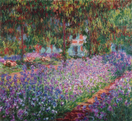 Claude Monet. The painter's garden in Giverny