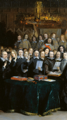 Gerard Terborch (ter Borch). The signing of the Munster peace treaty. Fragment