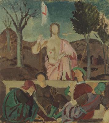 Balthus (Balthasar Klossovsky de Rola). Resurrection (by Piero della Francesca)