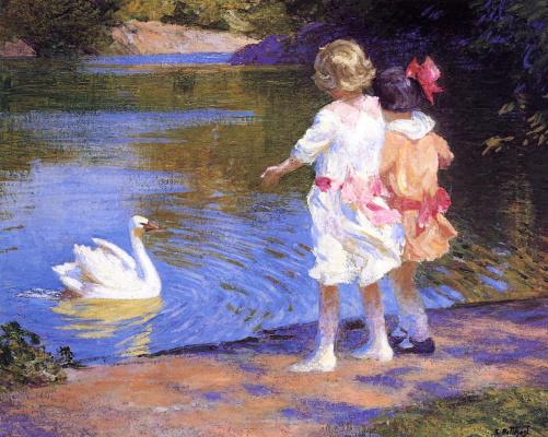 Эдвард Генри Поттаст. Лебедь