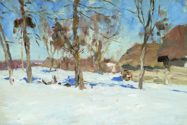 Isaac Levitan. At the beginning of March. Etude