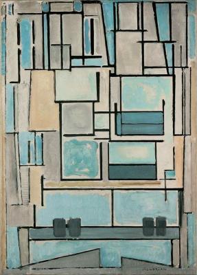 Пит Мондриан. Композиция №9, Синий фасад.