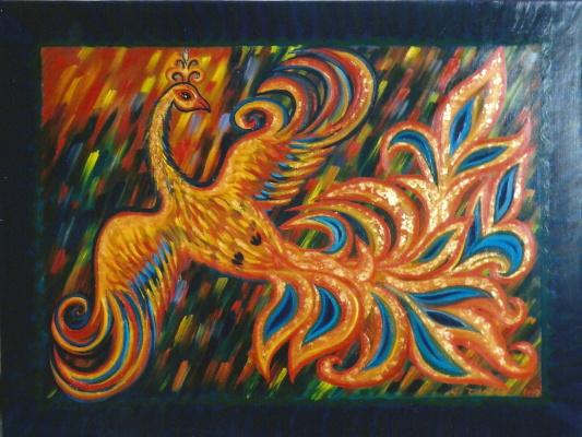 "Маргарита Анатольевна Чакова. Carpet ""Fire - a bird"""