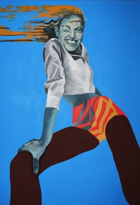 Irina Grechukhina. Puffing the wind