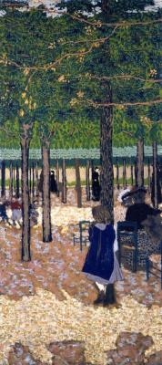 Jean Edouard Vuillard. A walk in the Park. Among the trees