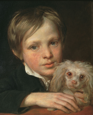 Alexander Grigorievich Varnek. The boy with the lapdog. 1800 State Tretyakov Gallery, Moscow