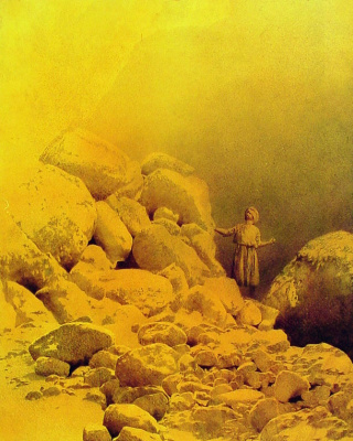 Maxfield Parrish. Arabian fairy tales. Sinbad and the Valley of Diamonds