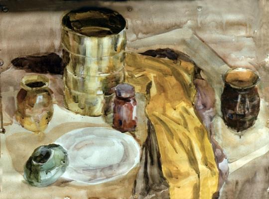 Alexander Matyukhin. Still life (watercolor)