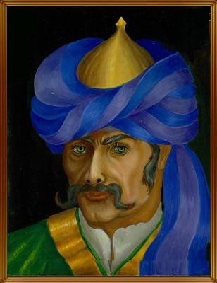 Vladimir Pavlovich Parkin. Portrait of Asfandior Bek
