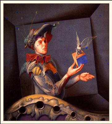 Гил Брювель. Автопортрет с ангелом