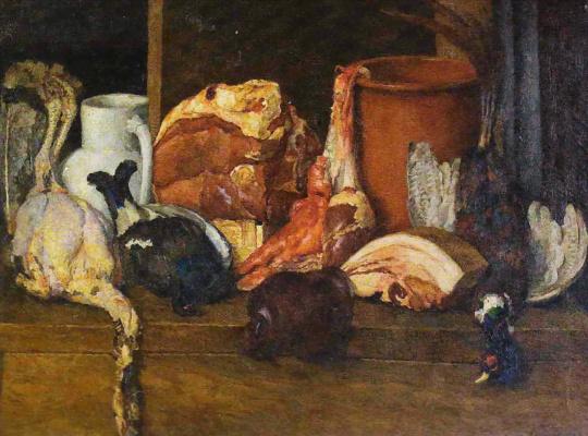 Ilya Ivanovich Mashkov. Eatables Moscow. Meat, poultry
