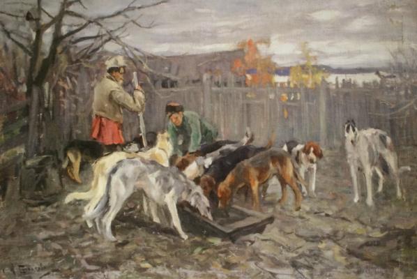 Alexey Stepanovich Stepanov (1858-1923). To the kennels.