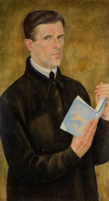 Дмитрий Павлович Крапивный. Self Portrait with a Book