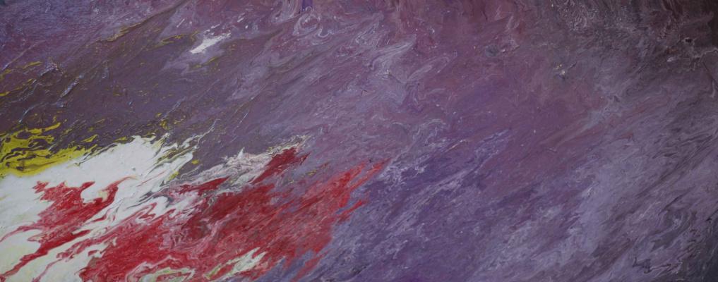 """Alla Struchayeva. Painting """"Mountain Frontier"""""""