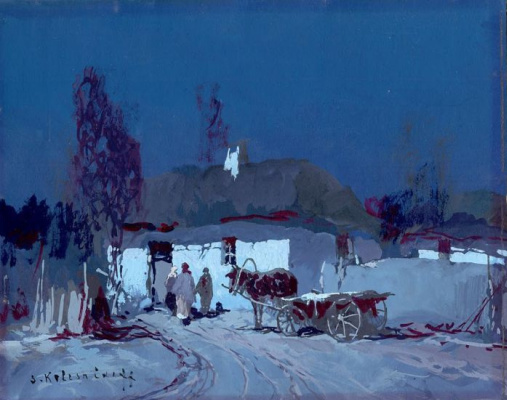 Stepan Fedorovich Kolesnikov (Odessa). Night landscape