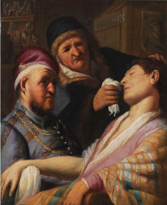 Rembrandt Harmenszoon van Rijn. The Unconscious Patient (An Allegory of the Sense of Smell)
