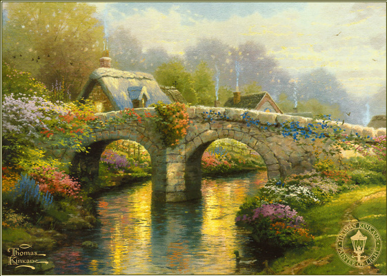 Thomas Kincaid. Blooming bridge