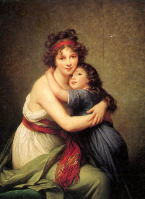 Elizabeth Vigee Le Brun. Self-portrait with daughter