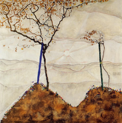 Egon Schiele. Autumn sun and trees