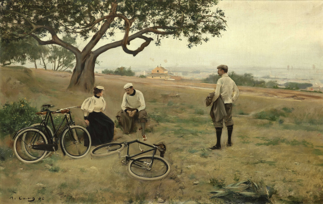 Ramon Casas i Carbó. Vacationers cyclists (outdated cyclists)