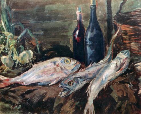 Konstantin Korovin. Still life with fish