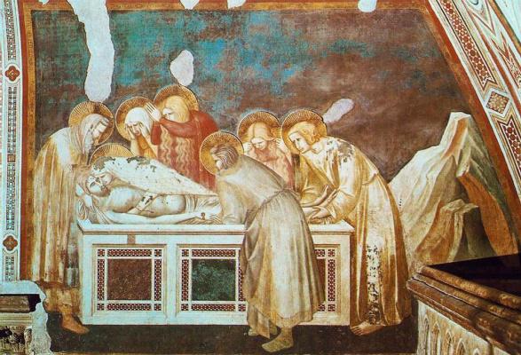 Пьетро Лоренцетти. Погребение