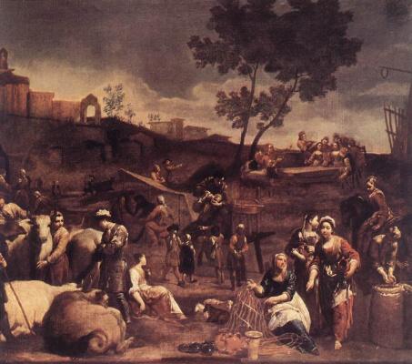 Джузеппе Мария Креспи. Деревенская ярмарка