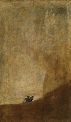 Франсиско Гойя. Тонущая собака