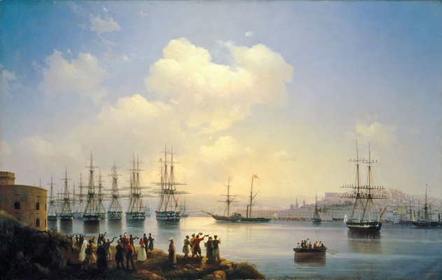 Ivan Aivazovsky. The Russian squadron on the RAID of Sevastopol