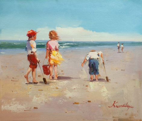 Savely Kamsky. Children and the sea. N3