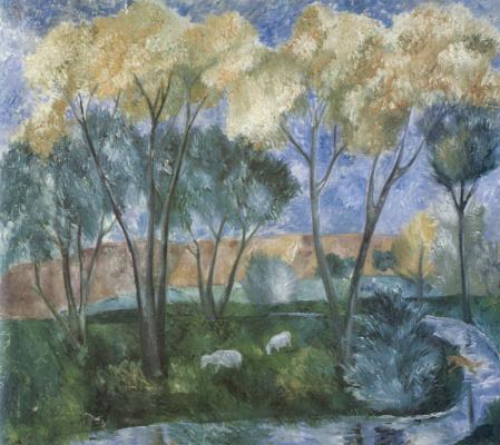 Mikhail Larionov. Autumn landscape