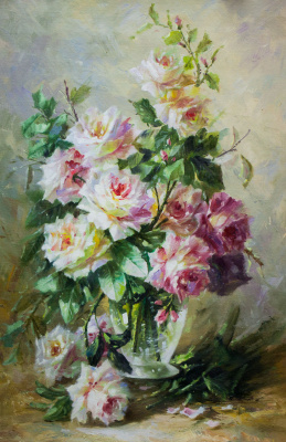 Savely Kamsky. Roses. Morning bouquet N3