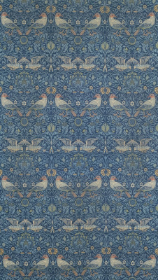 William Morris. Birds. Wall decoration design