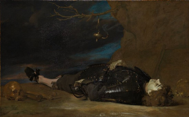 Masterpieces of unknown artists. Dead warrior