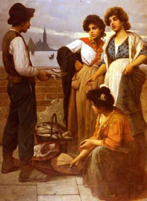 Луиджи Пастега. Продавец рыбы