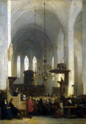 Иоханнес Босбом. В церкви