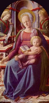 Fra Filippo Lippi. Madonna enthroned