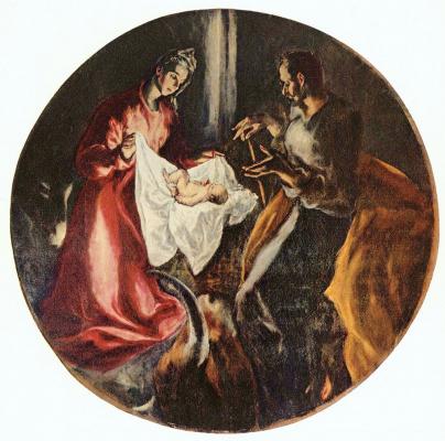 Domenico Theotokopoulos (El Greco). The Birth Of Christ