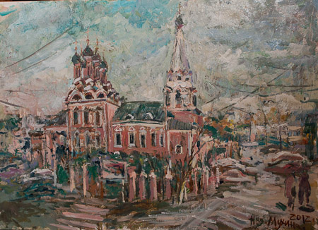 Nadezhda Sergeevna Mukhina. The Church at Taganka