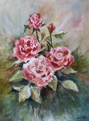 Сергей Владимирович Дорофеев. Roses in watercolor
