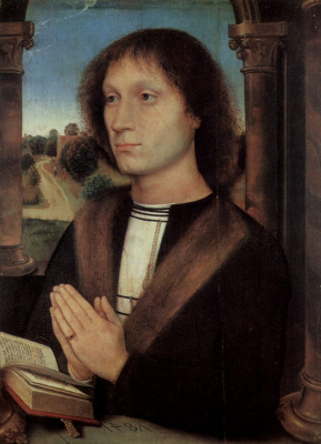 Hans Memling. Portrait Of Benedetto Portinari? The Portinari Triptych. The right panel