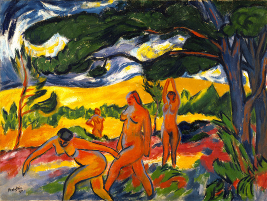 Max Pehshtein. Nude under a tree