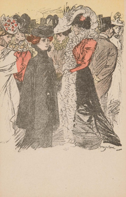 Theophile-Alexander Steinlen. At the ball