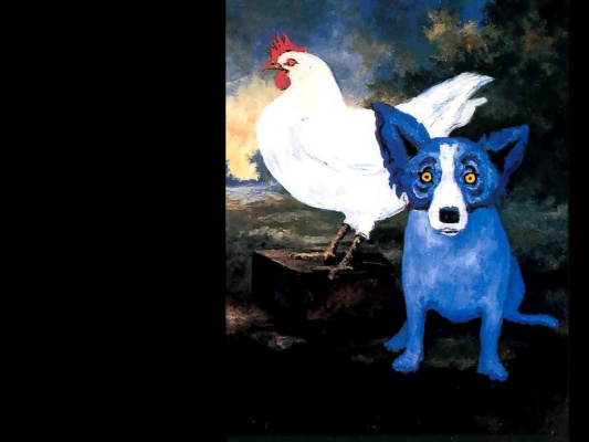 George Rodrigue. Blue собака013