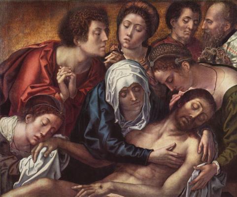 Бернард ван Орлей. Триптих Ханетона. Центральная часть. Оплакивание Христа