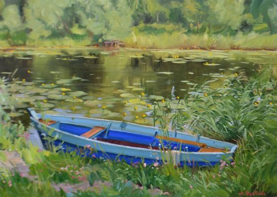 "Artem Yurievich Puchkov. ""The blue boat"" Pereslavl"