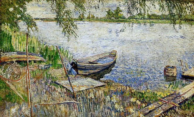 Давид Давидович Бурлюк. Лодка на берегу