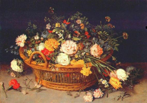 Питер Брейгель Младший. Корзина цветов