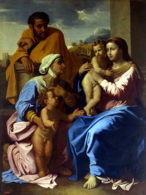 Nicola Poussin. The Holy Family with St Elizabeth and John the Baptist