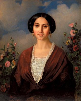 Аполлон Николаевич Мокрицкий. Портрет Марии Мокрицкой, супруги художника